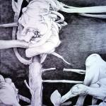 """Lasy"" - rysunek 70x100"