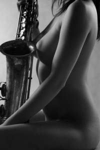 """Kobieta i saksofon - 005"" - fot. 2011"