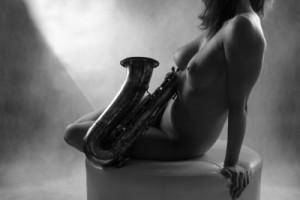 """Kobieta i saksofon - 006"" - fot. 2011"